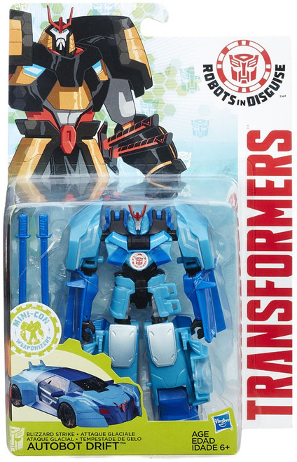 Transformers Robots in Disguise Mini-Con Weaponizers Blizzard Strike Autobot Drift Warrior Action Figure