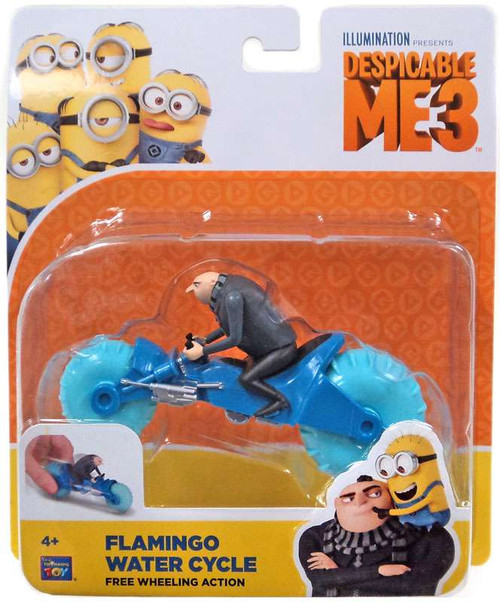 Despicable Me 3 Flamingo Water Cycle Toy [Free Wheeling Action]