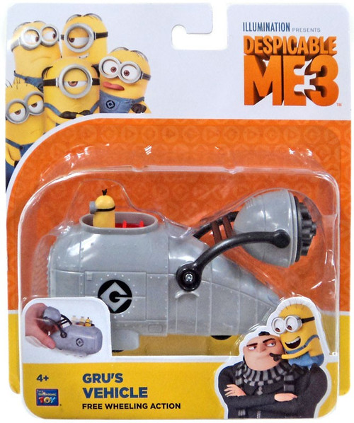 Despicable Me 3 Gru's Vehicle Toy [Free Wheeling Action]