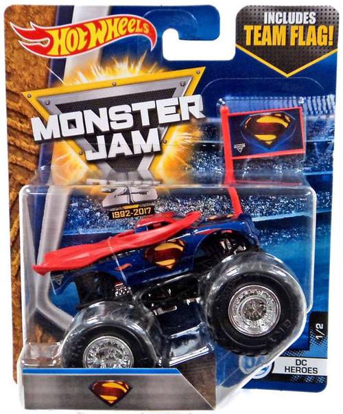 Hot Wheels Monster Jam 25 Superman Man of Steel Die-Cast Car #1/2 [DC Heroes]