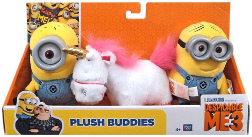 Despicable Me 3 Carl, Dave & Fluffy Exclusive 5-Inch Plush Buddies 3-Pack