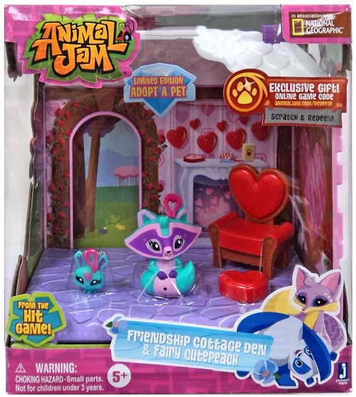 Animal Jam Friendship Cottage Den & Fairy Cutepeach Exclusive Playset