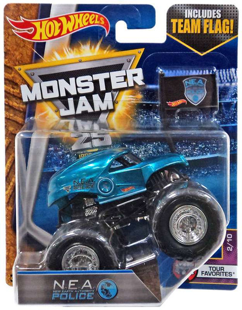 Hot Wheels Monster Jam 25 N.E.A. New Earth Authority Police Die-Cast Car #2/10 [Tour Favorites]