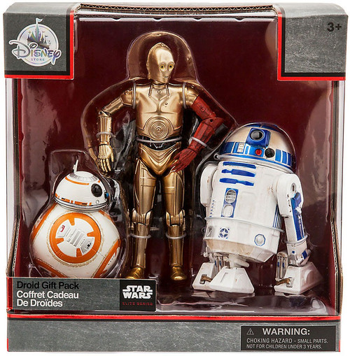Disney Star Wars The Force Awakens Elite BB-8, C-3PO & R2-D2 Exclusive Die Cast Action Figure 3-Pack [Droid Gift Pack]