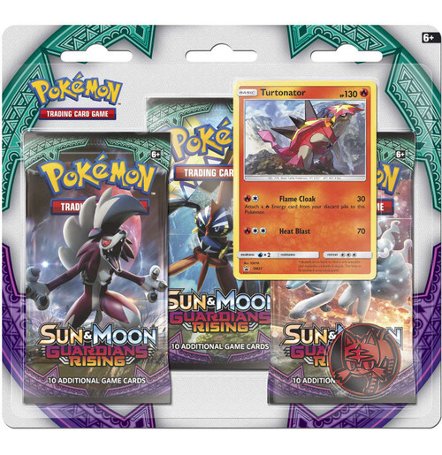 Pokemon Trading Card Game Sun & Moon Guardians Rising Turtonator Special Edition [3 Booster Packs, Promo Card & Coin]