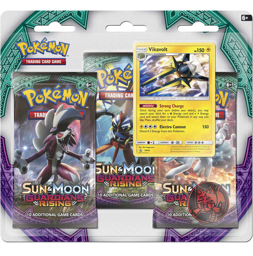 Pokemon Trading Card Game Sun & Moon Guardians Rising Vikavolt Special Edition [3 Booster Packs, Promo Card & Coin]