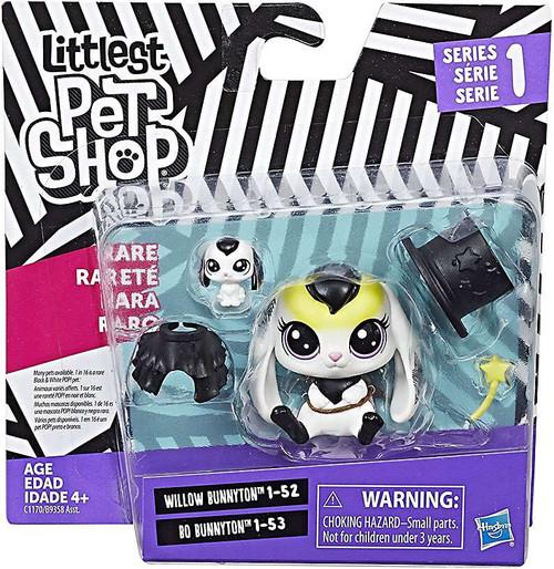 Littlest Pet Shop 2017 Pet Pairs Willow & Bo Bunnyton Figure 2-Pack