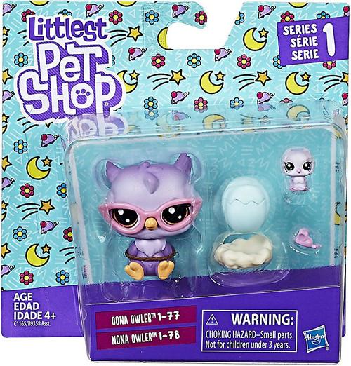 Littlest Pet Shop 2017 Pet Pairs Oona & Nona Owler Figure 2-Pack