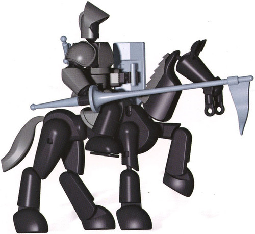 Stikfas Omega Male Armored Knight With Stallion Deluxe Action Figure Kit