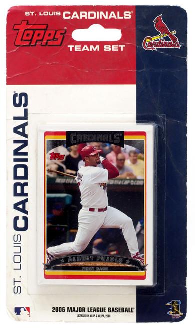 MLB Topps 2006 Major League Baseball St. Louis Cardinals Team Set