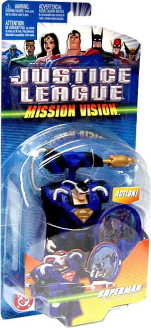 Justice League Mission Vision Superman Deluxe Action Figure [Blue & Black Armor]