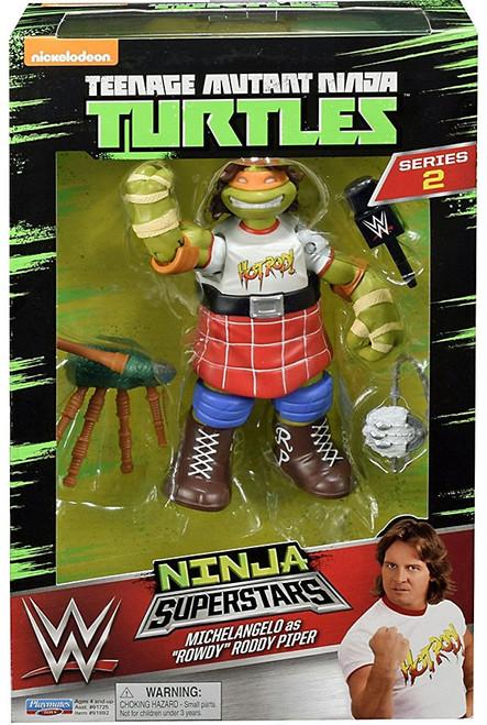 Teenage Mutant Ninja Turtles Nickelodeon WWE Superstars Michelangelo as Rowdy Roddy Piper Action Figure