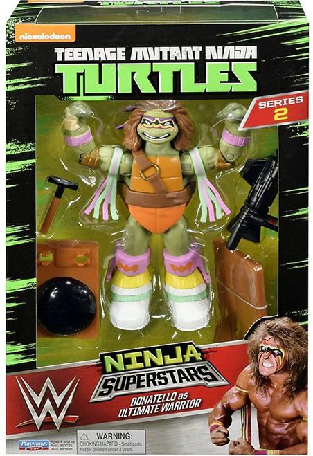 Teenage Mutant Ninja Turtles Nickelodeon WWE Superstars Donatello as Ultimate Warrior Action Figure