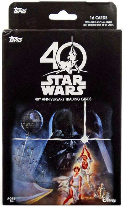 Star Wars Topps 40th Anniversary Exclusive Trading Card HANGER Box [16 VCards]