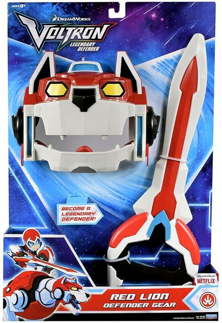 Voltron Legendary Defender Red Lion Defender Gear [Mask & Weapon]