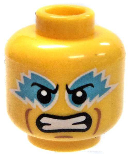 Yellow Male with Blue Face Paint Minifigure Head [Loose]
