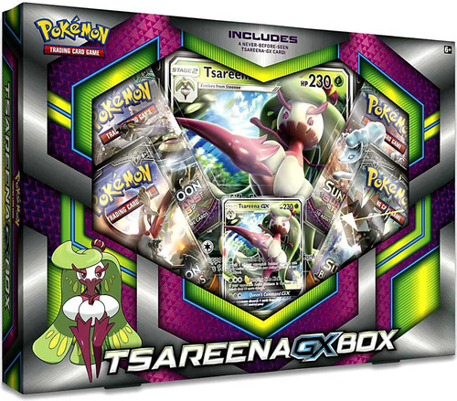 Pokemon Trading Card Game Sun & Moon Tsareena-GX Box [4 Booster Packs, Promo Card & Oversize Card]