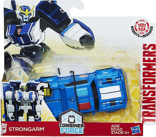 Transformers Robots in Disguise 1 Step Changers Strongarm (White Lines On Hood) Action Figure [Combiner Force]
