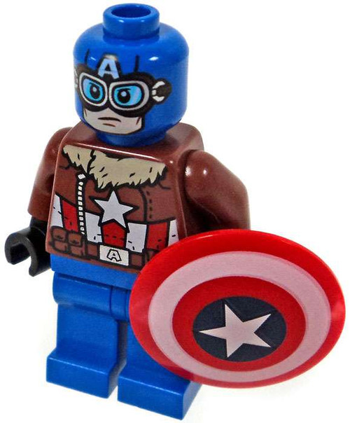 LEGO Marvel Super Heroes Pilot Captain America Minifigure [Loose]
