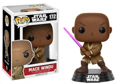 Funko POP! Star Wars Mace Windu Exclusive Vinyl Bobble Head #172