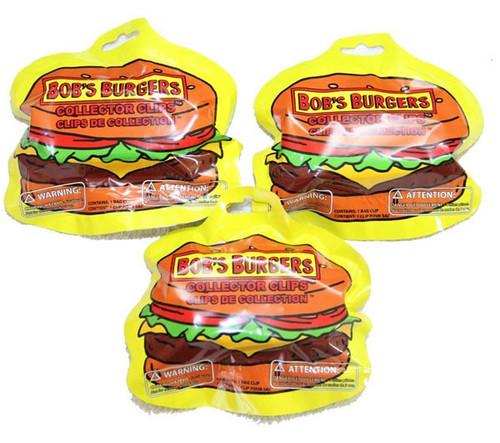 Clip On Hanger Bob's Burgers LOT of 3 Mystery Packs