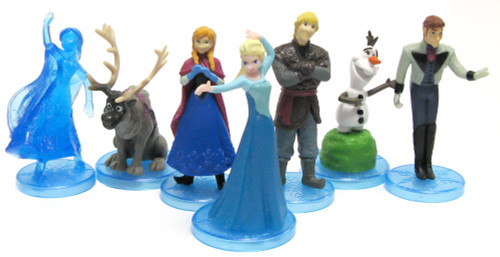 Disney Frozen Set of 7 Frozen Deluxe 2-Inch Mini Figurines