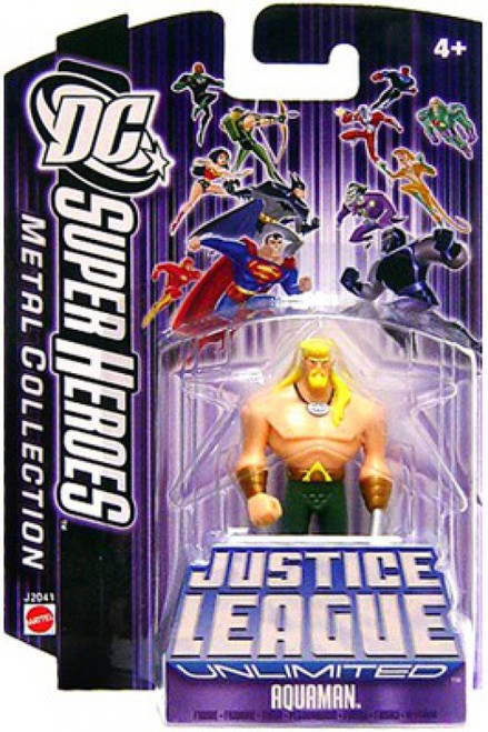 Justice League Unlimited Mini Metal Aquaman Action Figure [Purple Card]
