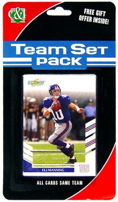 NFL 2007 Score Football Cards New York Giants Team Set
