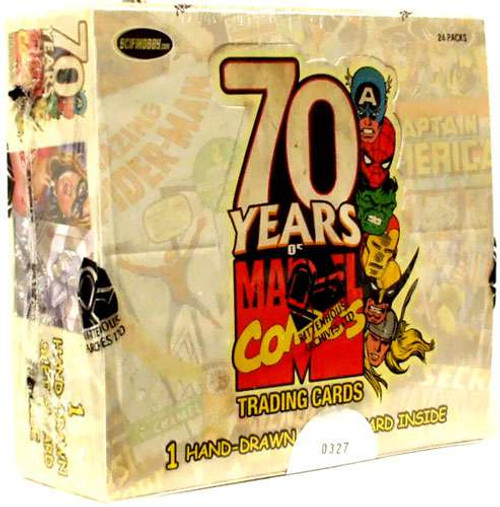 70 Years of Marvel Comics Trading Card Box