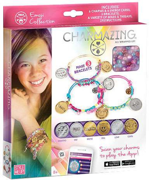 Style Me Up! Charmazing All Wrapped Up! Emoji Collection Exclusive Bracelet Kit [Damaged Package]