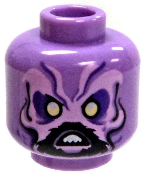 Lavender Alien with Short Goatee Minifigure Head [Loose]