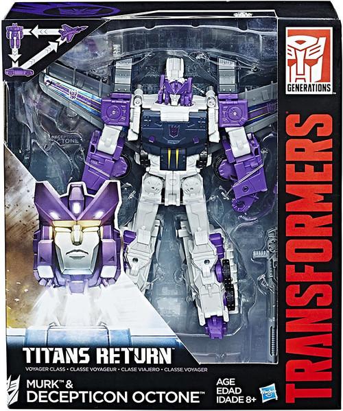 Transformers Generations Titans Return Decepticon Octone & Murk Voyager Action Figure