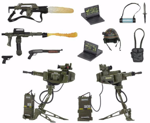 NECA Aliens USCM Arsenal Weapons 7-Inch Accessory Pack