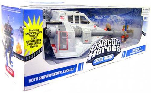 Star Wars The Empire Strikes Back Galactic Heroes 2009 Hoth Snowspeeder Assault Battle Set