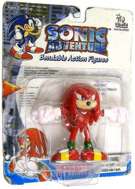 Sonic The Hedgehog Sonic Adventure Knuckles 3-Inch Bendable Figure [Loose]