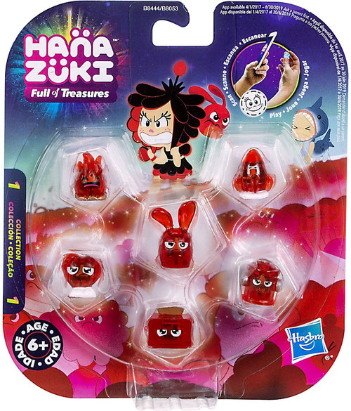 Hanazuki Full of Treasures Red / Feisty 6-Pack