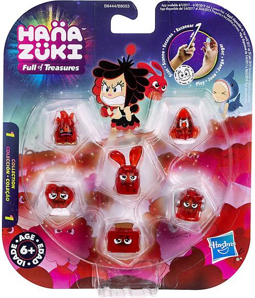 Hanazuki Full of Treasures Series 1 Red / Feisty 6-Pack