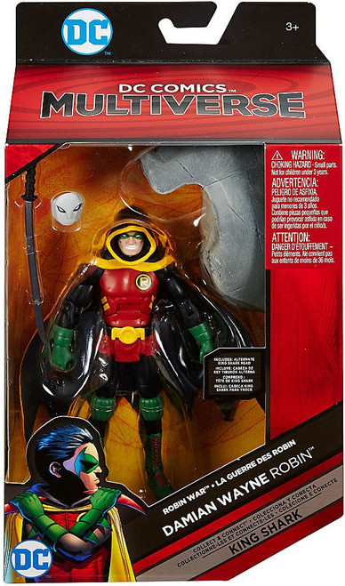 DC Robin War Multiverse King Shark Series Damian Wayne Robin Action Figure