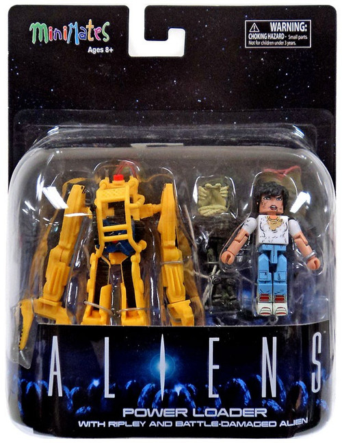 Aliens Minimates Power Loader 2-Inch Minifigure Deluxe Set [with Ripley and Battle-Damaged Alien]