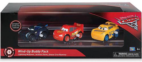 Disney Cars 3 Lightning McQueen, Cruz Ramirez & Jackson Storm Wind-Up Buddy Exclusive Vehicle 3-Pack