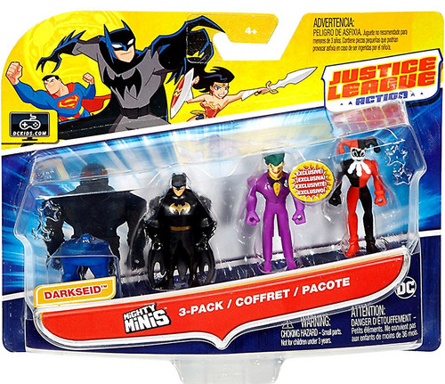 Justice League Action Mighty Minis Build Darkseid Batman, Joker & Harley Quinn Mini Figure 3-Pack
