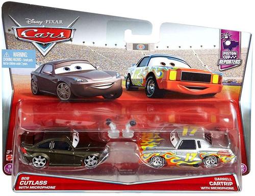 Disney / Pixar Cars Piston Cup Reporters Bob Cutlass & Darrell Cartrip Diecast Car #9/10 & 10/10 [with Microphones]