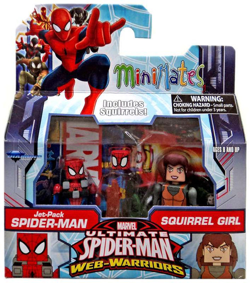Marvel Avengers Minimates Jet-Pack Spider-Man & Squirrel Girl Exclusive Minifigure 2-Pack