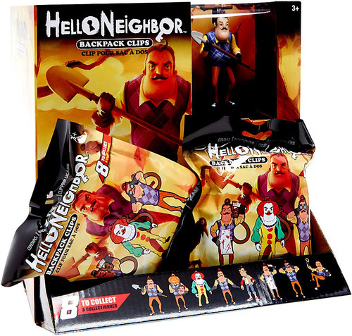 Clip On Hangers Hello Neighbor Mystery Box [24 Packs]