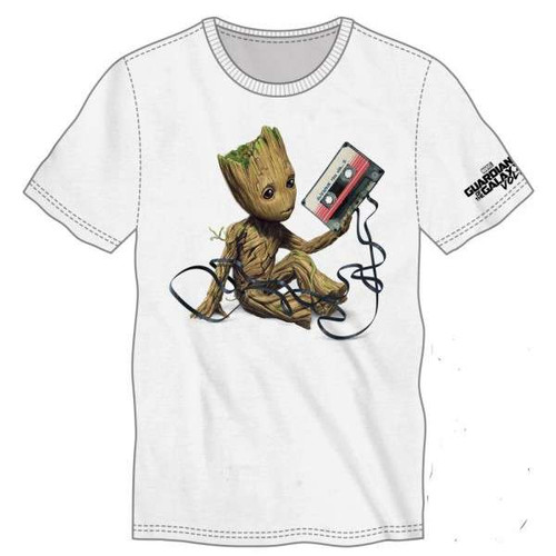 Marvel Guardians of the Galaxy Baby Groot Mixtape Tee Shirt Apparel [Large]