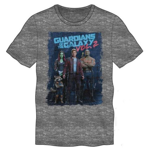 Marvel Guardians of the Galaxy Vol. 2 Movie Poster Tee Shirt Apparel [Large]
