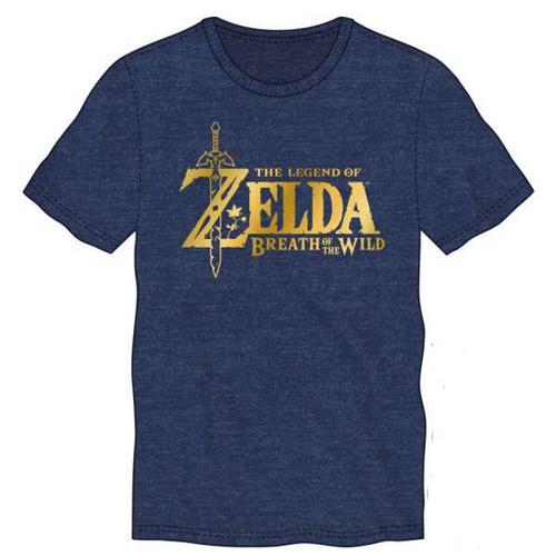 The Legend of Zelda Zelda Breath of the Wild Metallic Logo Mens Tee Shirt Apparel [Extra Large]
