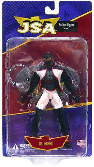 DC JSA Series 1 Mr. Terrific Action Figure [Damaged Package]