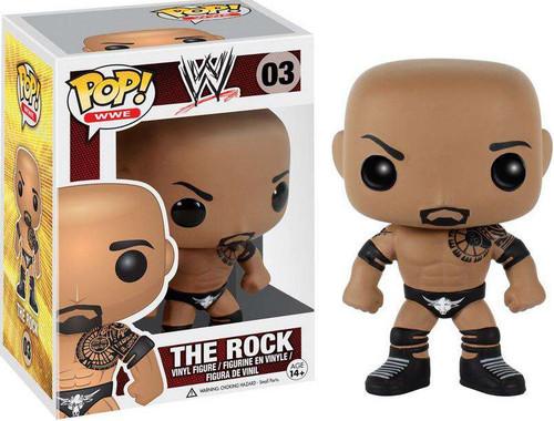 Funko WWE Wrestling POP! Sports The Rock Vinyl Figure #03 [Damaged Package]