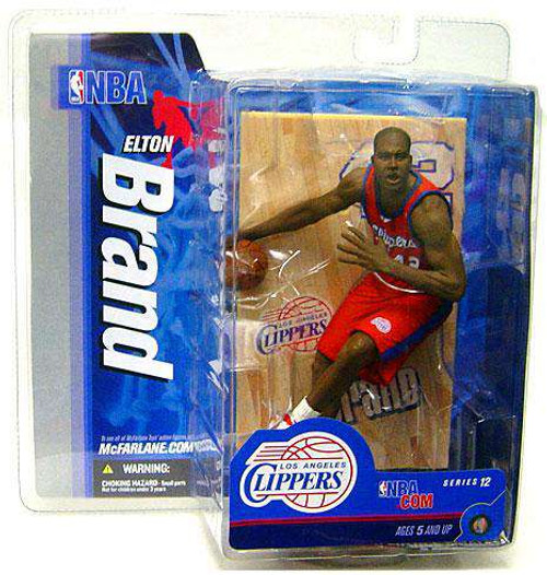 McFarlane Toys NBA Los Angeles Clippers Sports Picks Series 12 Elton Brand Action Figure [Red Jersey, Damaged Package]